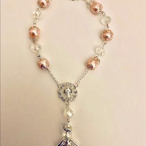 Pink Rosary Bracelet